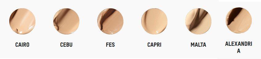 Tonos para piel clara de la base