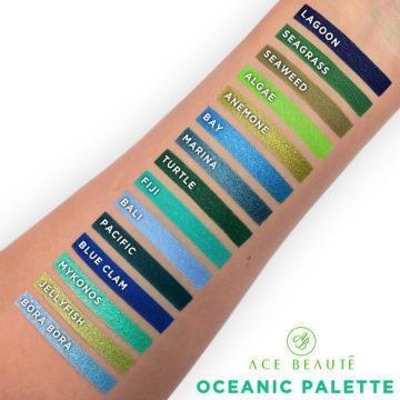 Oceanic palette swatches