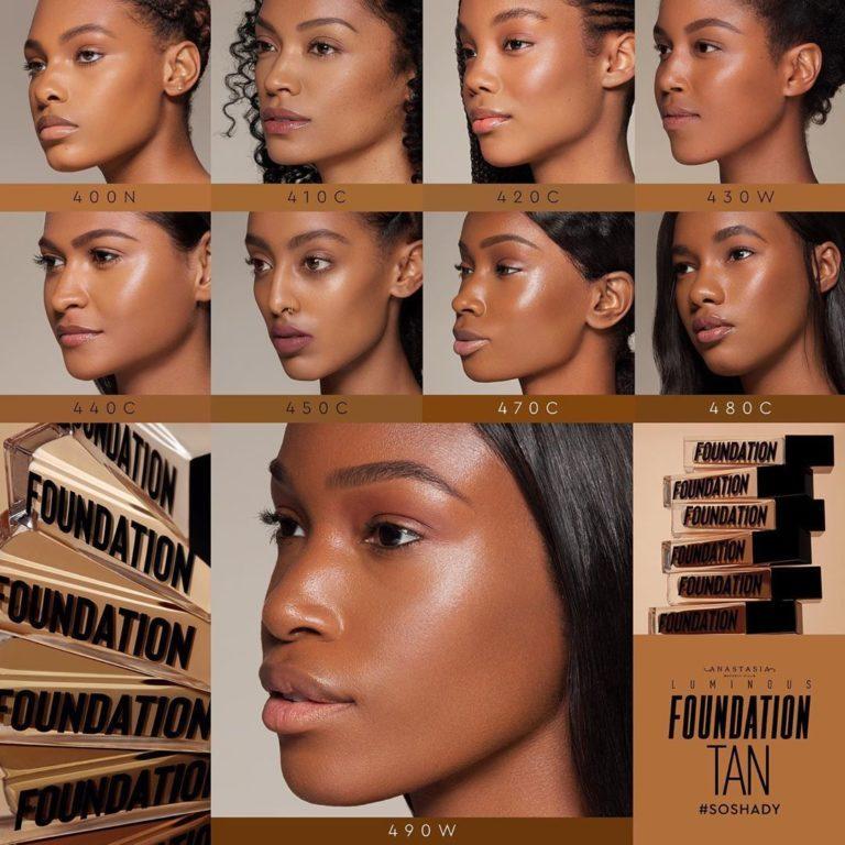 Base de maquillaje tonos bronceados
