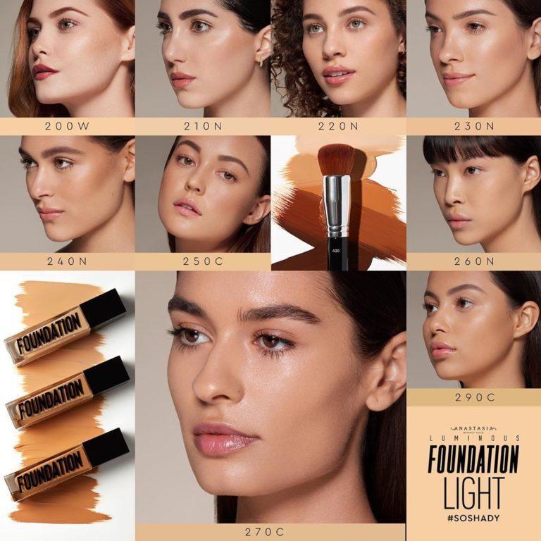Base de maquillaje tonos claros