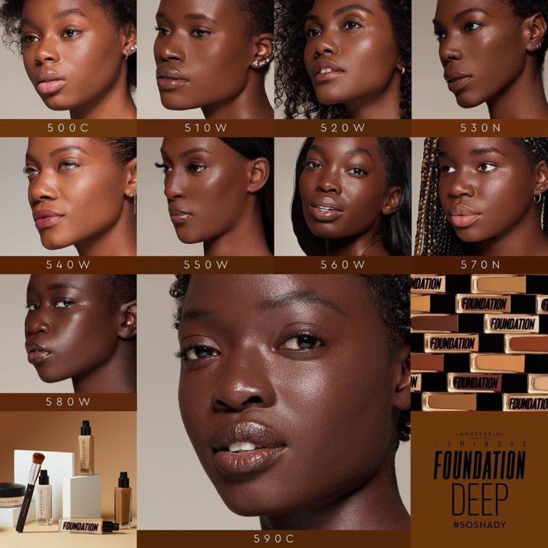 Base de maquillaje tonos oscuros