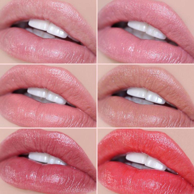 Essential Lip Enhancer Shine Balms Swatches
