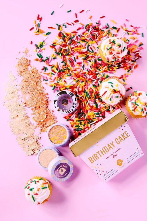 Halo Top x Colourpop Birthday Cake