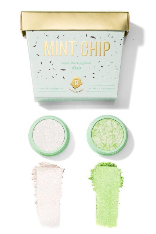 Halo Top x Colourpop Mint Chip Swatches