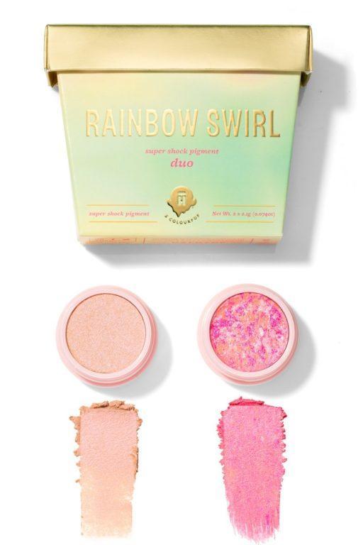 Halo Top x Colourpop Rainbow Swirl Swatches