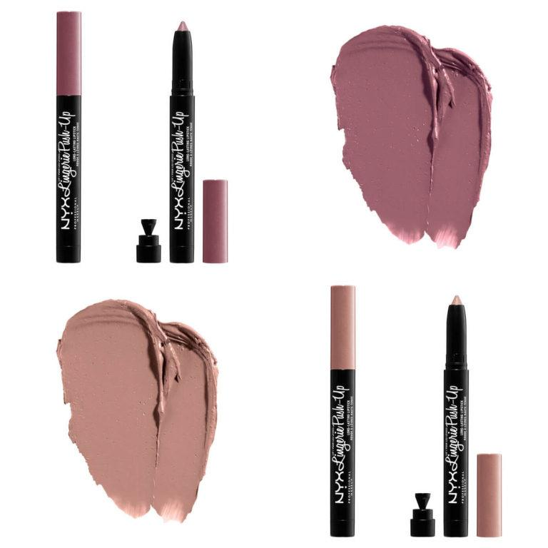 NYX Lip Lingerie Push Up Long Lasting Lipsticks Swatches 1