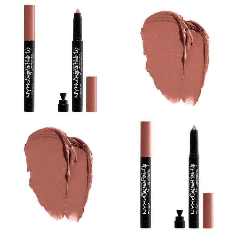 NYX Lip Lingerie Push Up Long Lasting Lipsticks Swatches 2