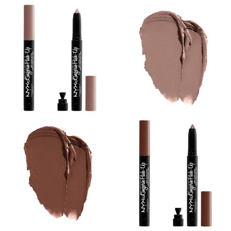 NYX Lip Lingerie Push Up Long Lasting Lipsticks Swatches 3