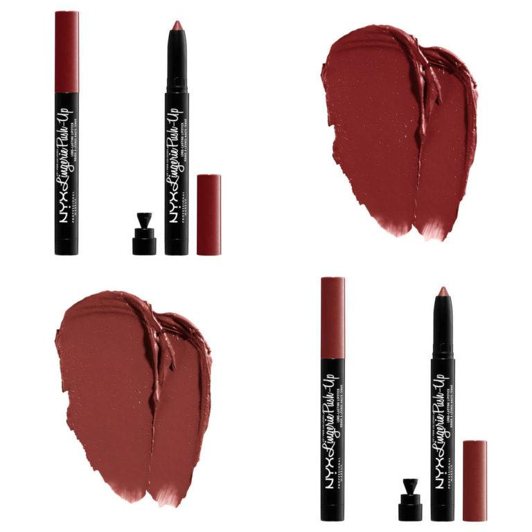 NYX Lip Lingerie Push Up Long Lasting Lipsticks Swatches 4