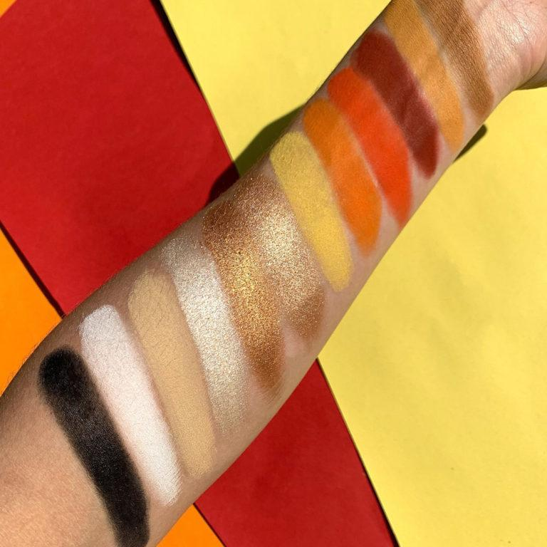 Paleta Climax The Cosmetic Apex swatches