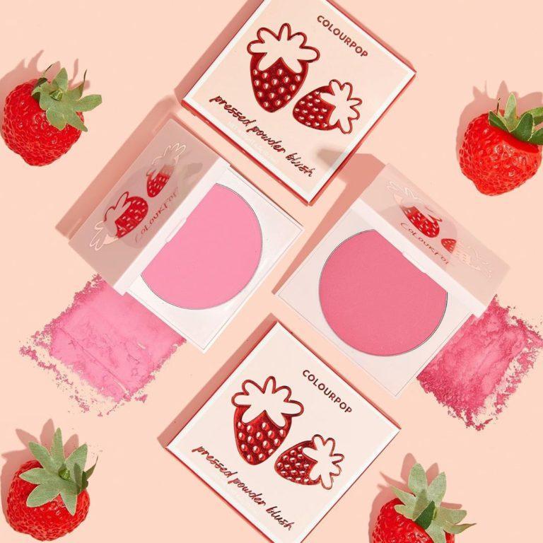 Pressed Powder Blush de la colección fresas de Colourpop