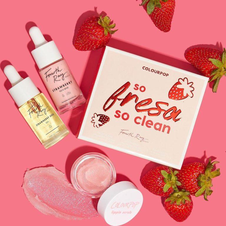 Set so fresa so clean de la colección fresas de Colourpop