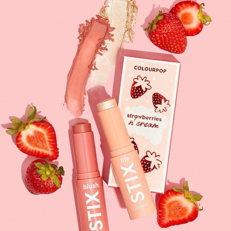 Strawberries ´Cream Blush stix Duo de la colección fresas de Colourpop