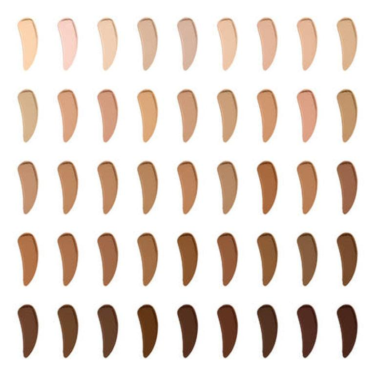 Born To Glow Naturally Radiant Foundation Swatches 2