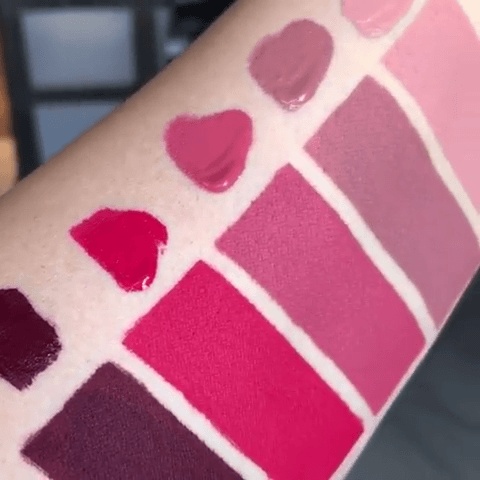 Give Me Glow Cosmetics Vintage Rose Lipstick Swatches
