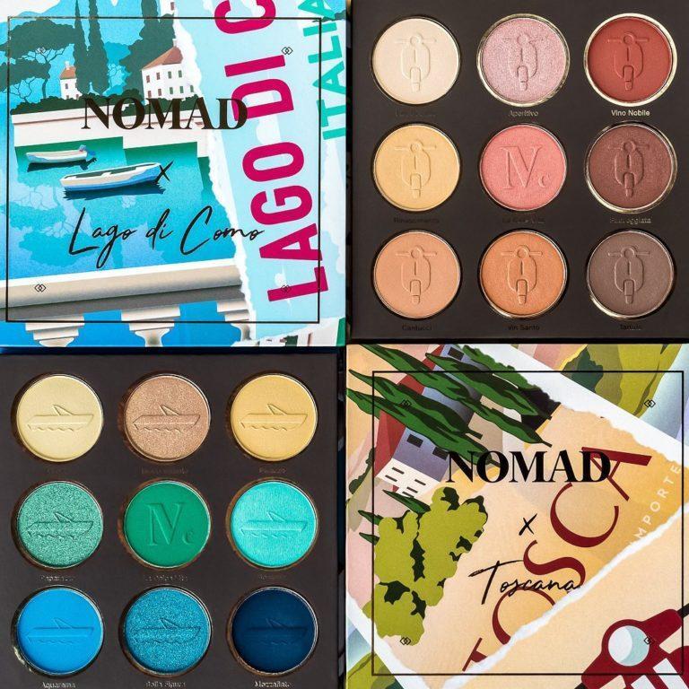 Nomad Cosmetics Lake Como & Tuscany Palettes