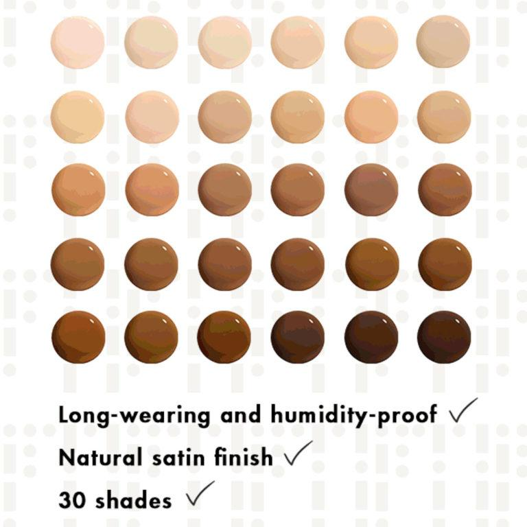 Stila Hide & Chic fluid foundation Shades
