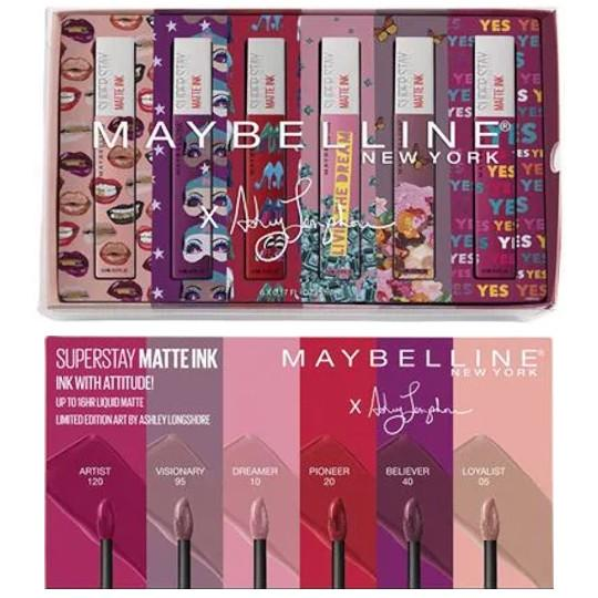 SuperStay Matte Ink™ Liquid Lipstick X Ashley Longshore Full Collection Kit Collage 1