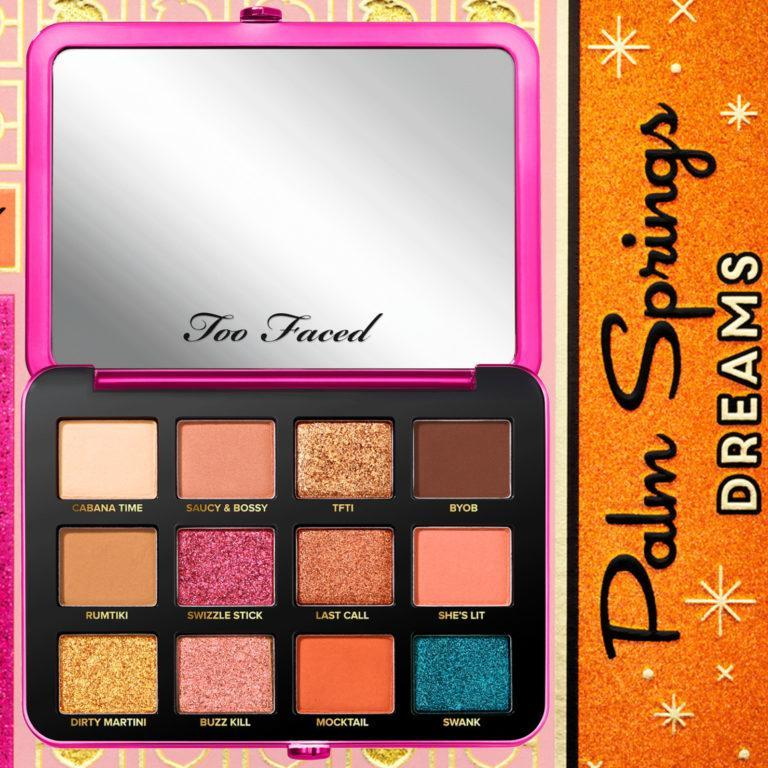 Too Faced Spring Pallette Open + Case Background