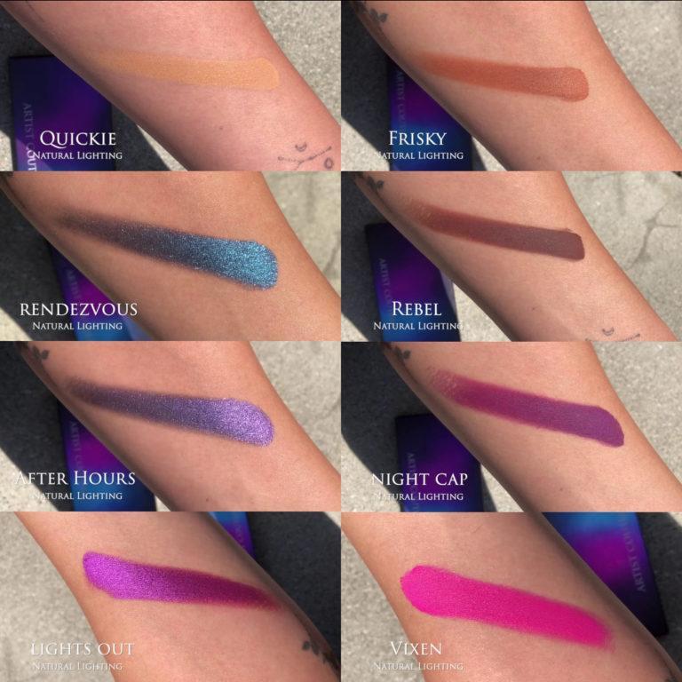 Artist Couture Midnight Maven Eyeshadow Palette Swatches