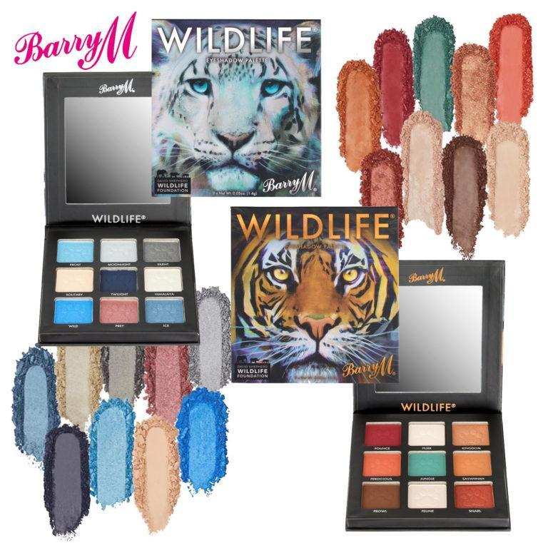 Barry M WILDLIFE® Tiger and Snow Leopard Eyeshadow Palettes Cover