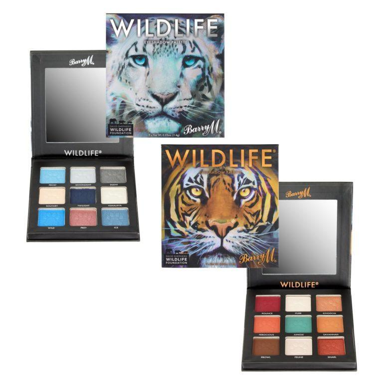 Barry M WILDLIFE® Tiger and Snow Leopard Eyeshadow Palettes Main