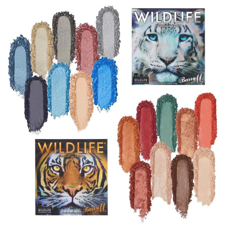 Barry M WILDLIFE® Tiger and Snow Leopard Eyeshadow Palettes Swatches