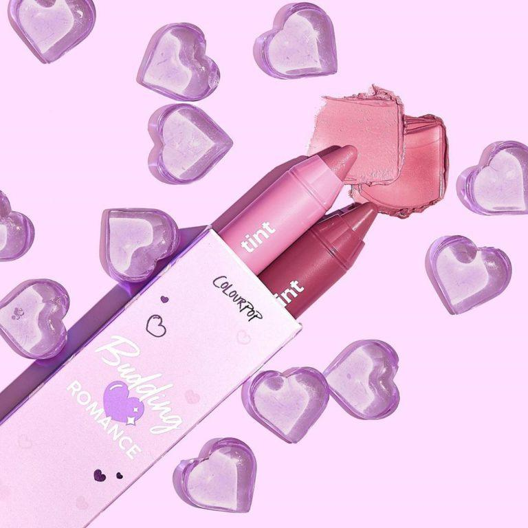 Colourpop Lilac Collection Budding Romance Just A Tint Lip Duo
