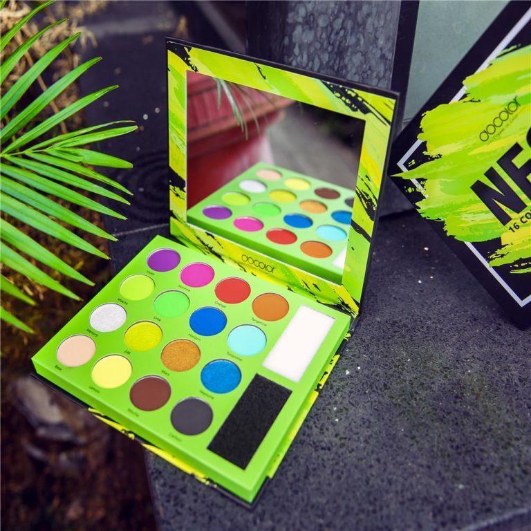 DOCOLOR Neon 16 Color Shadow Palette