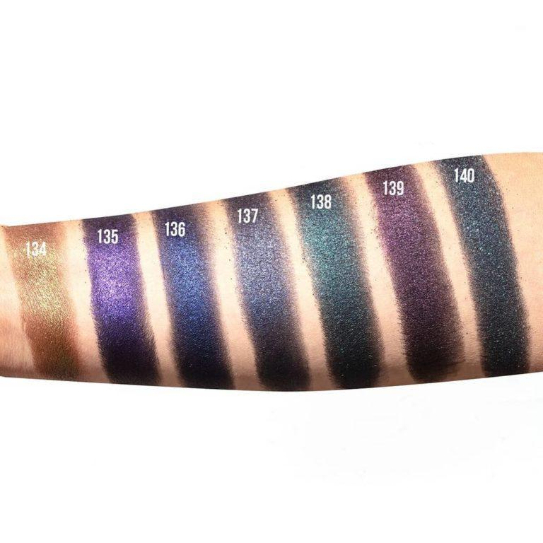 Inglot AMC Pure Pigment Eye Shadow Swatches