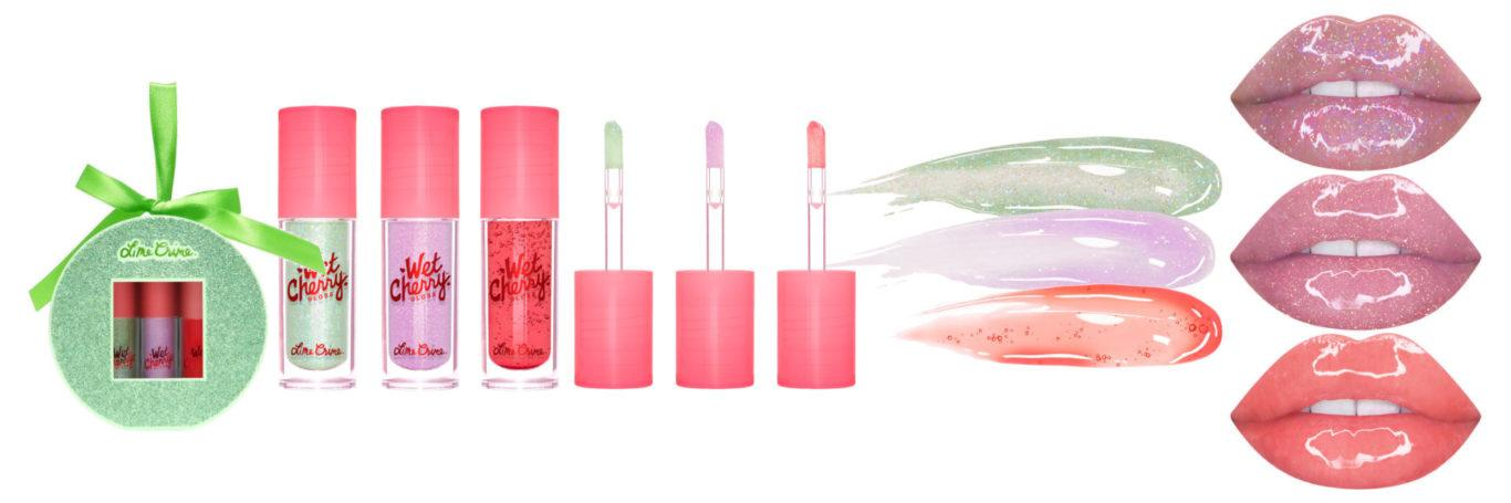 Lime Crime Holiday Winter Shine Mini Wet Cherry Lip Gloss Set