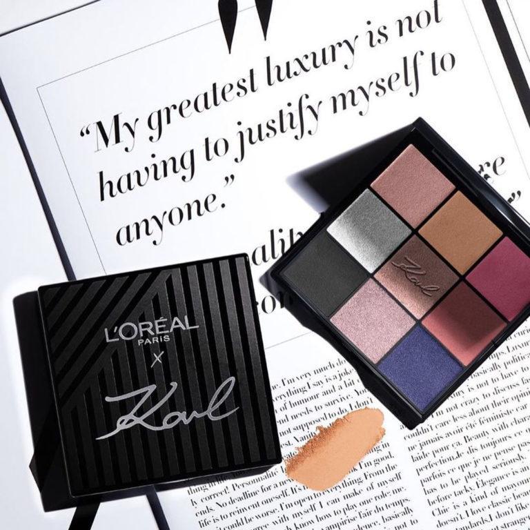 Loreal Paris X Karl Lagerfeld Eyeshadow Palette Promo