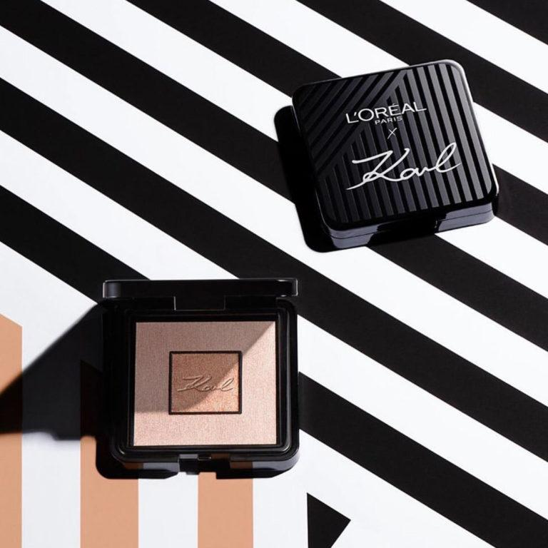 Loreal Paris X Karl Lagerfeld Highlighter Open Closed