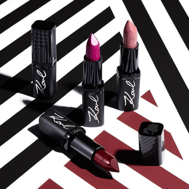 Loreal Paris X Karl Lagerfeld Lipsticks