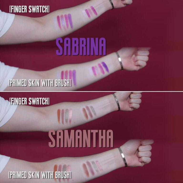 Lunar Beauty Moon Spell Eyeshadow Palette Swatches 1