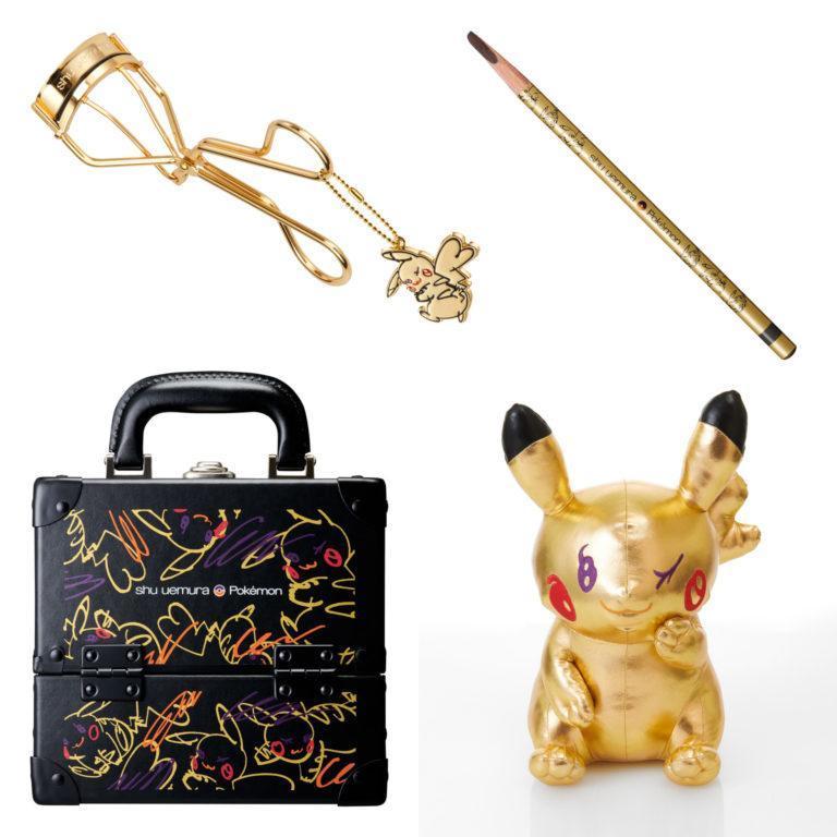 Shuuemura Pikashu Collection Eyelash Curler, Brow Pencil, Makeup Box & Pikashu