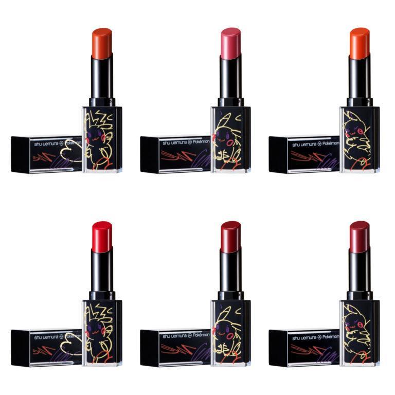Shuuemura Pikashu Collection Lipsticks