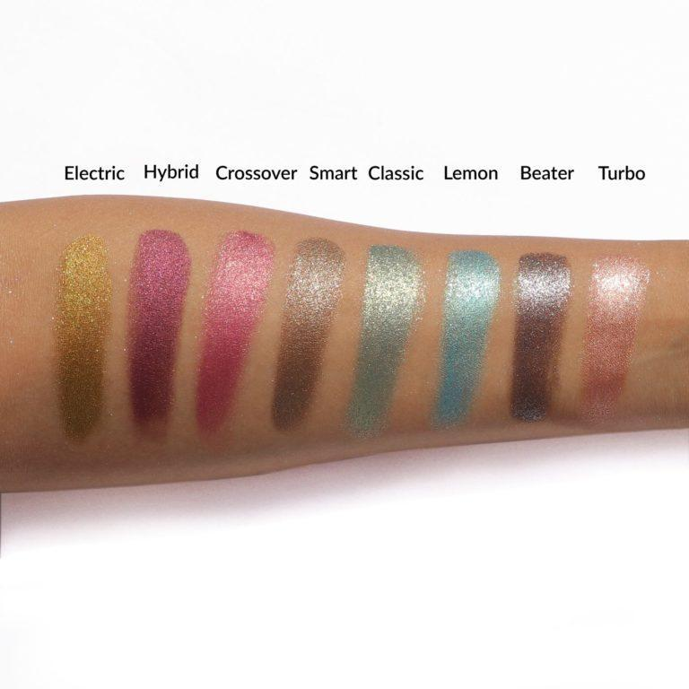 The balm Shift into Overdrive Swatches
