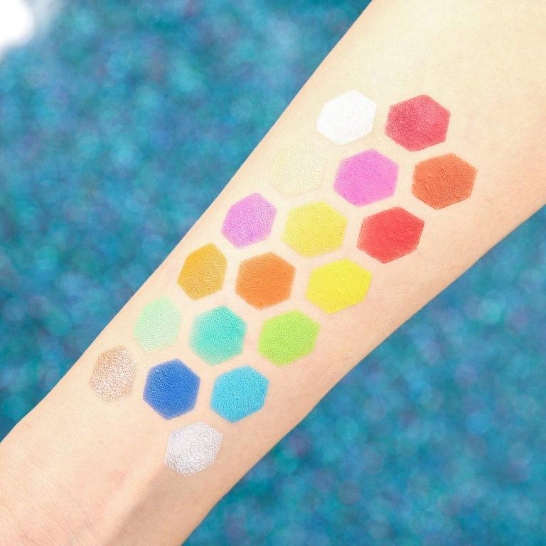 Chellylovesmakeup91 x Docolor Ice Cream Palette Arm Swatches