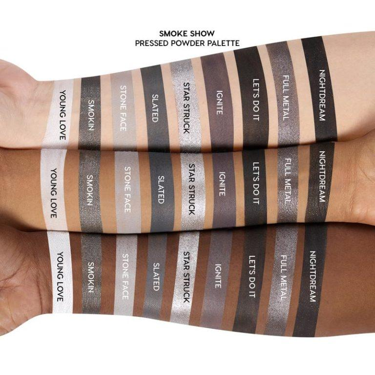 Colourpop The Smoke Show Collection Smoke Show Palette Swatches