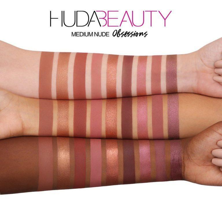 Huda Beauty Nude Obsessions Nude Medium Swatches