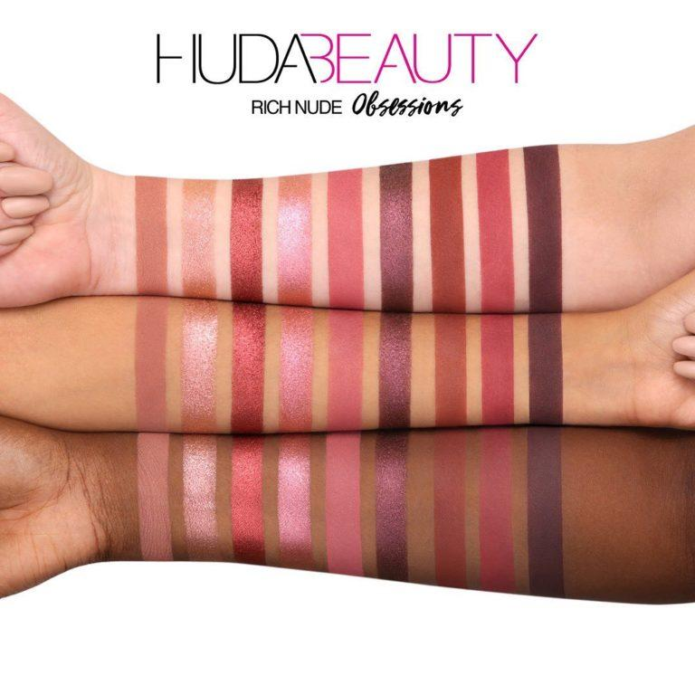 Huda Beauty Nude Obsessions Nude Rich Swatches