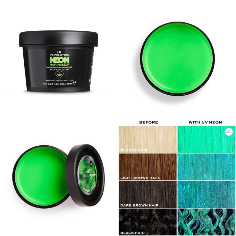I Heart Revolution UV Neon Green Hair Make Up