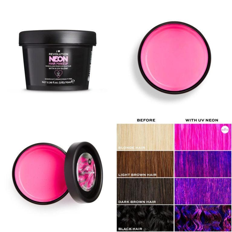 I Heart Revolution UV Neon Pink Hair Make Up
