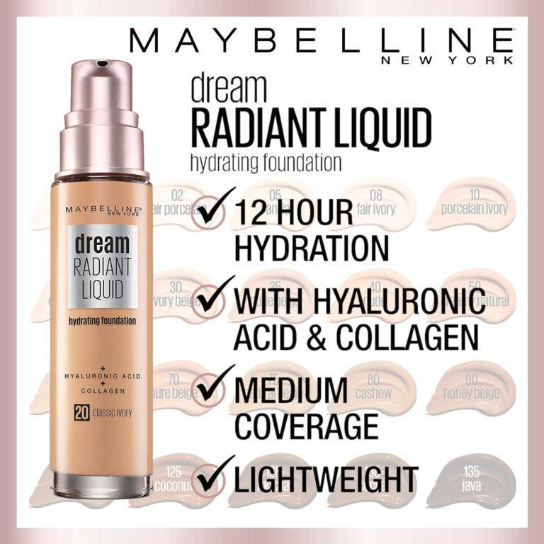 Maybelline Dream Radiant Liquid Foundation Post Cover