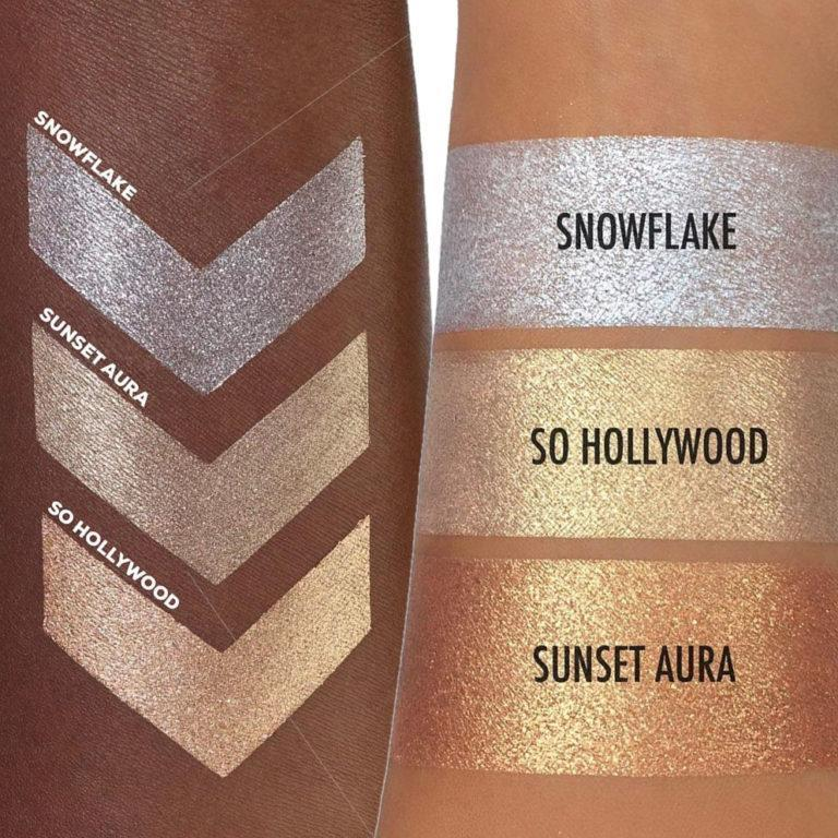 Mini Loose Highlighter Set Swatches