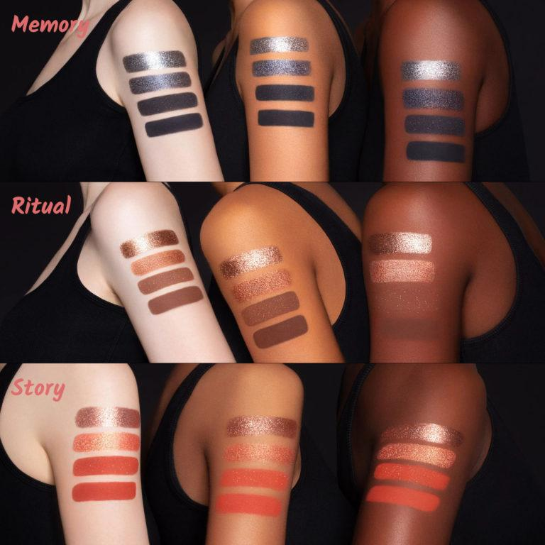 Tati Beauty Textured Neutrals Vol. 1 Eyeshadow Palette Memory Ritual Story Arm Swatches