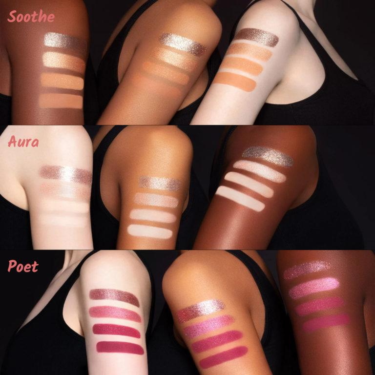Tati Beauty Textured Neutrals Vol. 1 Eyeshadow Palette Soothe Aura Poet Arm Swatches