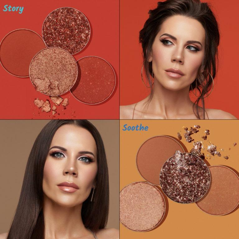 Tati Beauty Textured Neutrals Vol. 1 Eyeshadow Palette Story Soothe Crash Swatches