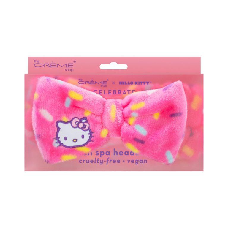 The Crème Shop x Hello Kitty Celebrate Plush Spa Headband Cruelty Free, Vegan Case